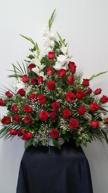 Centro rosas rojas