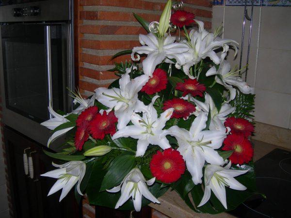 Centro flor natural