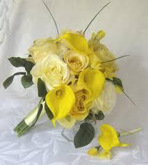 Ramo novia calas amarillas